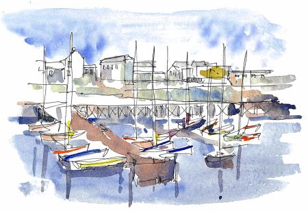 Bridlington-harbour-sketch